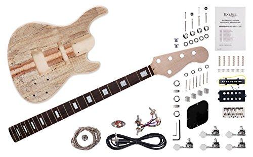 """Rocktile DIY JBH5 Bausatz E-Bass -""""Do-it-yourself"""" 5-Saiter Bausatz JB-Style - Korpus: Paulownia - Hals: Ahorn geschraubt - Griffbrett: Blackwood"""