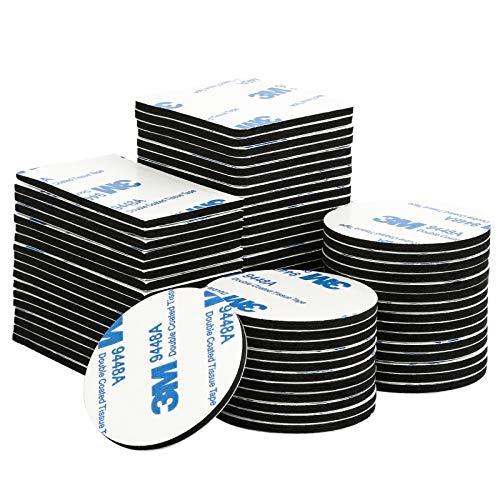 150 Stück Klebepads Doppelseitig Selbstklebende Pads Extra Stark Schaumstoff-Pads für Türen, Kunststoffe, Gläser, Metalle