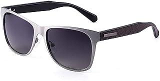 SGJFZD Men's Driving UV400 Polarized Sunglasses Outdoor Fashion Retro Sunglasses Sunshade (Color : Gray)