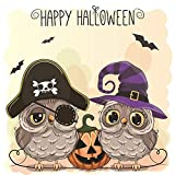 3.9 by 3.9 Inches Owl Pumpkin Happy Halloween Metal Cutting Dies for Scrapbooking Card Making Halloween Decors