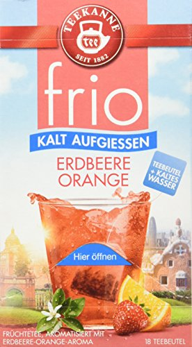 Teekanne frio Erdbeere Orange, 5er Pack (5 x 45 g)