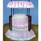 Baby Doll Bedding Regal Round Crib Bedding Set, Pink