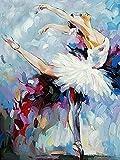 Pintura al óleo por números Ballet Mujer Pintado a mano Arte de pared moderno Pintura por número Kits de figuras de lienzo Decoración de la habitación A9 40x50cm