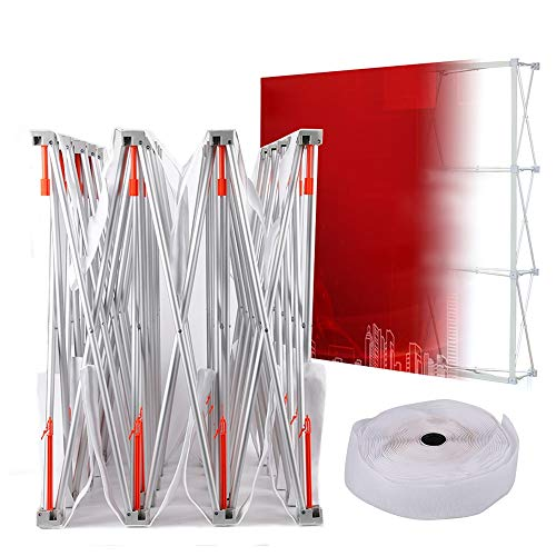 WUPYI Display Booth Frame,10ft x 8ft Tension Fabric Trade Show Display Straight Backdrop Booth Frame Pop Up,Aluminum Alloy,for Malls,Weddings,Hotels,Annual Meetings
