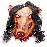 Masque d'horreur - En latex - Motif cochon - Pour halloween.