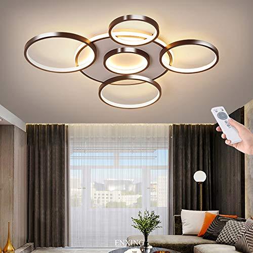 Modern Deckenleuchte Dimmbar Deckenlampe Wohnzimmerlampe Mit Fernbedienung LED 106W Decke Schlafzimmerlampe Acryl Lampenschirm Aluminium Design Lampe Esszimmerlampe Bürolampe Küchelampe,6 heads