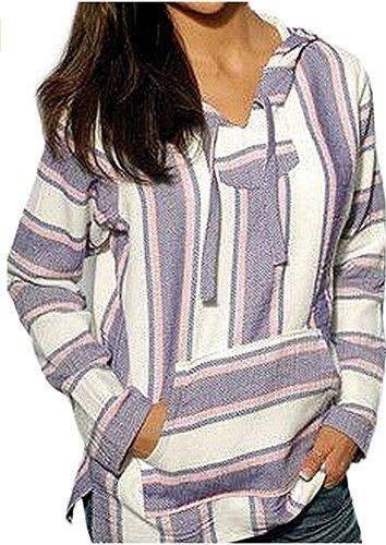 Mexican Baja Hoodie Sweater Sweatshirt Pullover Jerga (Medium,...