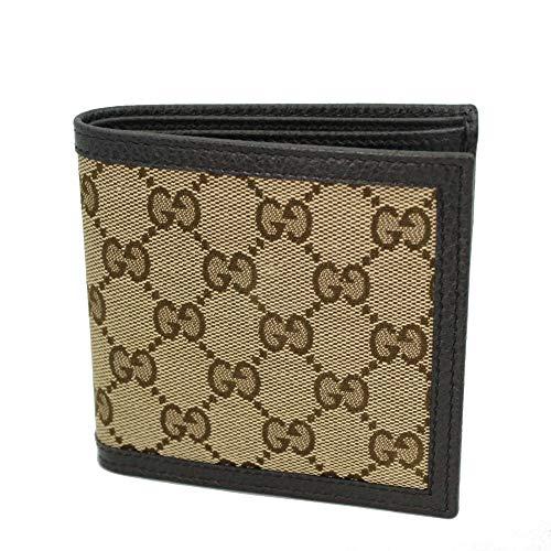 Gucci Men's Beige GG Canvas Bi-fold Wallet 150413 KY9LN 9903