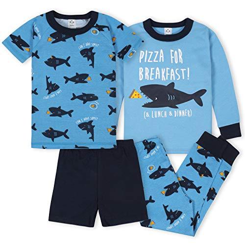 Gerber Baby Boys' 4-Piece Pajama Set, Sharks, 4T
