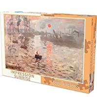 古典的なパズルゲーム 1000ピースジグソーパズル - 子供大人のためのモネジグソーパズルで印象日の出絵画オイル 頑丈で簡単
