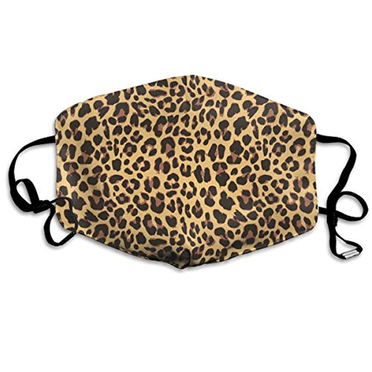 TDynasty Unisex Mouth Mask Fashion Brown Cheetah Dust Pollen Masks Half Face Earloop for Outdoor Cycling