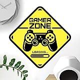 Gamer Zone porta segno adesivo parete arte camera da letto ragazzi camera da letto decorazione gioco adesivi carta da parati adesivi ragazzo gioco vinile decorazione bambino bambino bambino bambino