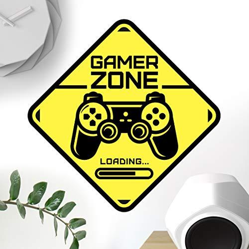 Señal de puerta de Gamer Zone calcomanía de pared arte dor