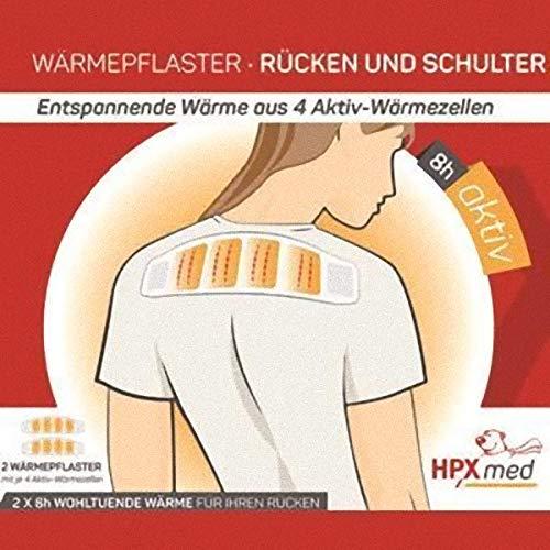 HPXmed 2 Wärmepflaster - Rücken und Schulter - Wärmekissen - Pflaster 8h Wärme
