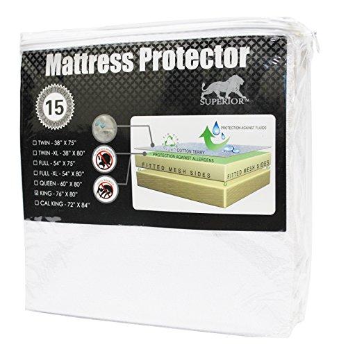 Superior 100% Waterproof Mattress Protector Pad, Queen