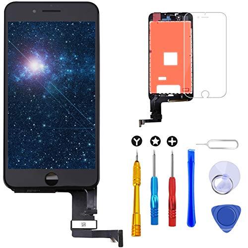 Brinonac Pantalla para iPhone 7, 4.7' Táctil LCD de Repuesto Ensamblaje de Marco Digitalizador con Herramienta de reparación y Protector de Pantalla (Negro)