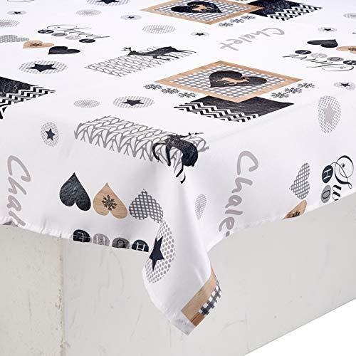 CALITEX S957804371B - Tovaglia Gauderic, 150 x 350 cm, Colore: Bianco
