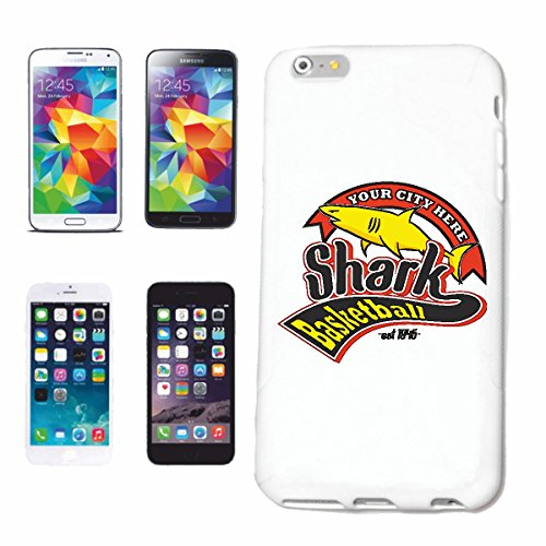 Hard Cover - Funda para teléfono móvil Compatible con Samsung Galaxy S4 Mini Equipo de Baloncesto Shark Great White Shark Shark Attack Attack Hai Mega