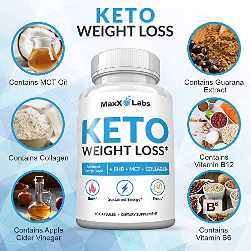 Keto Diet Pills - New - Exogenous Ketones Supplement Advanced Weight Loss for Women & Men with Best Ketogenic Fat Burner Beta Hydroxybutyrate BHB Salts to Keto Burn Fat - Easy to Swallow Capsules 7