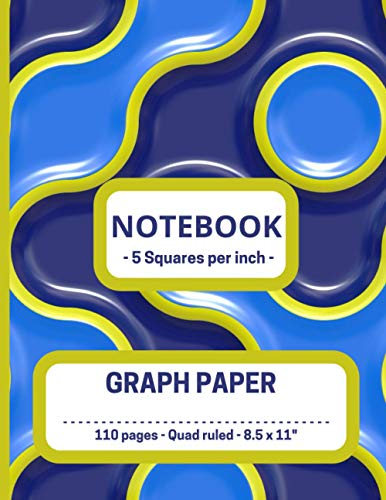 """GRAPH PAPER COMPOSITION NOTEBOOK: Journal for Art. School, College and Work - 5 Squares per inch - Quad Ruled, Blank Grid Paper - LARGE (8.5 x 11""""). (Graph Paper Notebook)"""