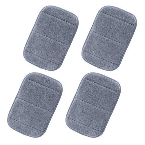 AUHOTA 4 Stücke tragbar Computer Ellbogen Handgelenk Pad, 2 Sätze Ergonomisch Tastatur Maus Handgelenkauflage Ellenbogenstütze für Büro Arbeit Spiel - Ellenbogenschmerzen lindern(7.9×11.8Zoll, Grau)