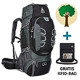 Adventure 4 Life - Hochwertiger Trekkingrucksack 60L für Damen & Herren - Wanderrucksack für...