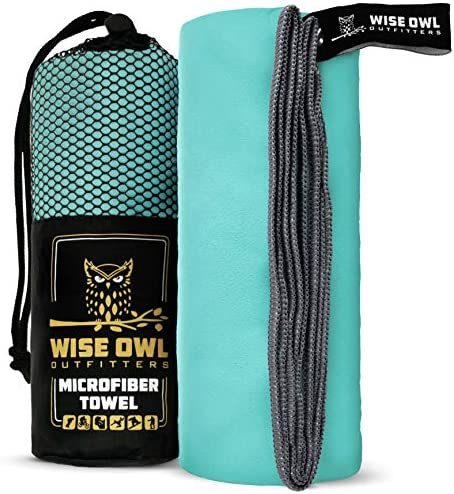 Wise Owl Outfitters Camping Travel Towel Ultra Soft Compact Quick Dry Microfiber Fast Drying product image