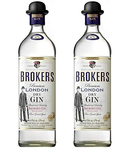 Broker's Gin aus Großbritannien 2er Sparpack Broker's dry Gin 47% vol. (2 x 0,7 Liter)