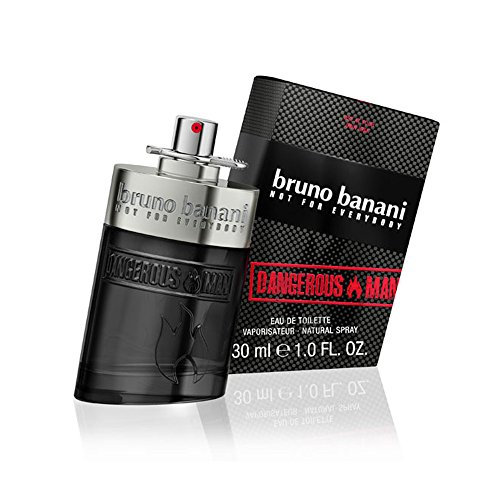 bruno banani Dangerous Men Eau de Toilette Natural Spray – Onweerstaanbaar spannend parfum voor heren – per stuk verpakt (1 x 30 ml) Eau de toilette, 30 ml. 30ml