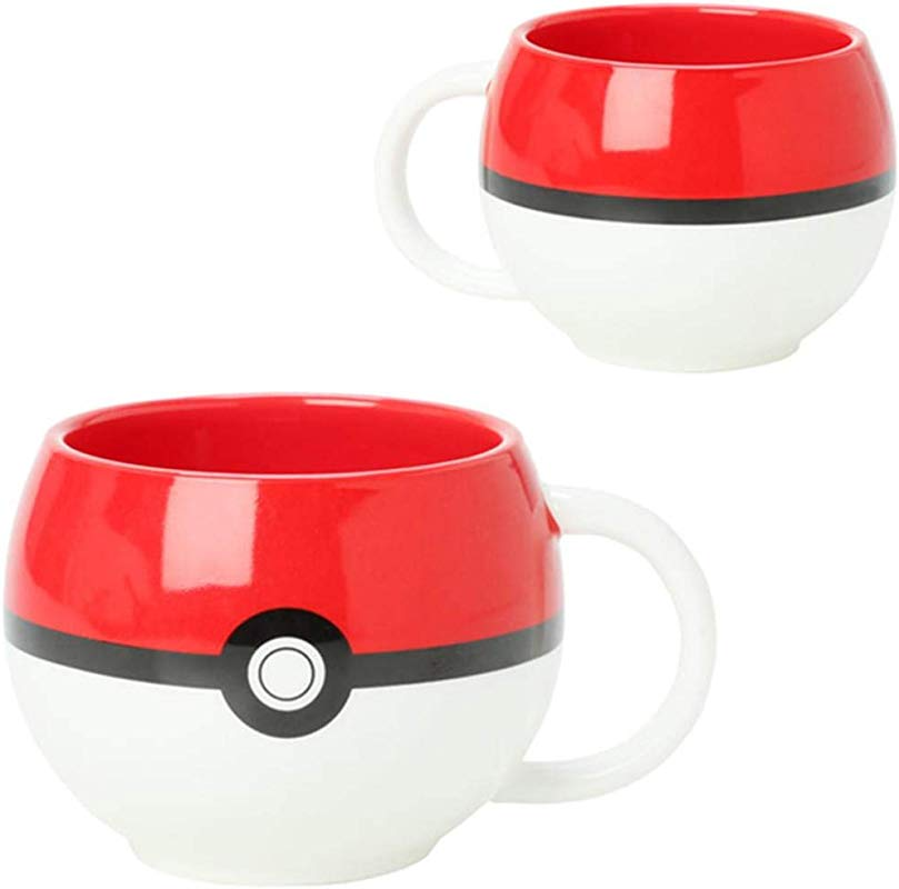 JUST FUNKY Pokemon Pokeball Molded Coffee Mug