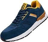 Zapatos de Seguridad Hombre,L9123 S1 SRC Zapatillas de Trabajo con Punta de Acero Suave y cómodo Antideslizante 42 EU,Azul