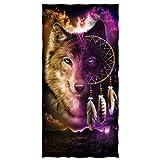 Wolf Dreamcatcher Super Soft Plush Cotton Beach Bath Pool Towel