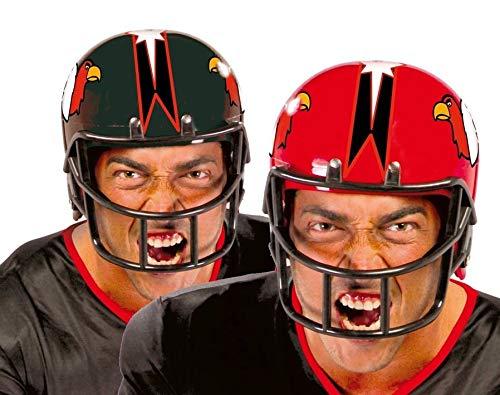 Casco Football Americano Rosso Giallo o Nero in plastica