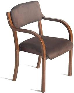 JXXDDQ Sillas de comedor Sillón de madera con reposabrazos para el hogar y negocios de Brown mesa de comedor/maquillaje/aprendizaje silla de cocina/comedor silla