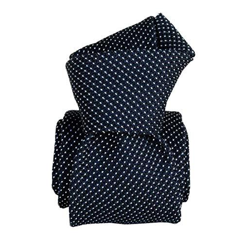 Segni et Disegni. Cravate grenadine. Paris IV, Soie. Bleu, Uni. Fabriqué en Italie.