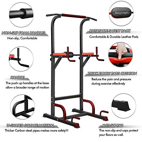 Product Image 4: BangTong&Li Power Tower Workout Pull Up & Dip Station Adjustable Multi-Function Home Gym Fitness Equipment