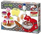 Ecoiffier – kleine Konditorei – 21-teiliges Spielset mit Küchenmaschine, Eier, Donut, Etagere, usw., ideal für Kinderküche, für Kinder ab 18 Monaten