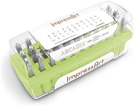 ImpressArt Arcadia Lowercase Letter Metal Stamps Set, 3mm