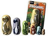 Universal Specialties T-Rex Dinosaur Nesting Dolls - 6 Unique Dinosaurs - All Hollow to Fit Inside Each Other