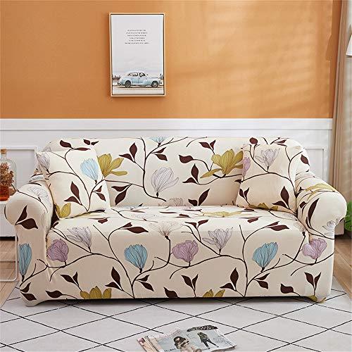 Oduo Funda de Sofa Universal Tela Elástica Impresión Creativa JuegosdeSofás de 1 2 3 4 Plazas (2 Funda de Cojines) Ajustable Antideslizante Muebles Protector (Beige,1 plazas)