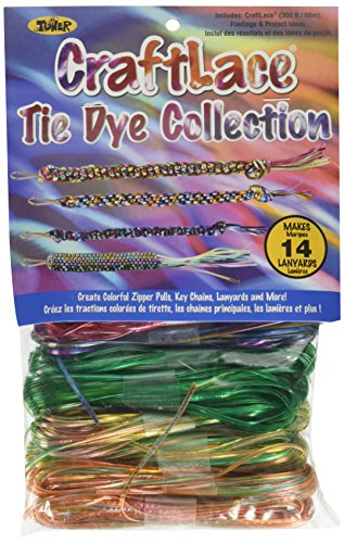 Craft Lace 300 Feet 14/Pkg-Tie Dye
