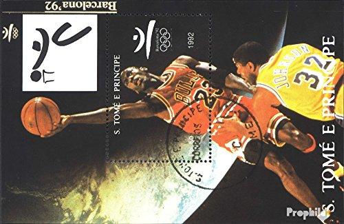 Prophila Collection Sao Tome e príncipe Bloque 277 (Completa.edición.) 1992 Juegos olímpicos...
