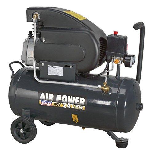 Sealey sac2420e110 V compressore, con attacco diretto, 2 hp, 110 V, 24 litri
