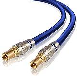 IBRA 3m Cavo per antenna TV/HDTV/Maschio a Maschio | Resistenza 75 Ohm | Cavo coassiale (Koax) HDTV/Full HD | Digitali DVB-T al TV con conduttore Solid Core in Rame OFC e connettori IEC schermati