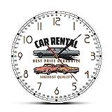 Alquiler de coches logotipo de la empresa personalizado reloj de pared decoración de la oficina del coche colgante de pared arte garaje reloj de pared mecánico personalizado conductor regalo-30X30cm