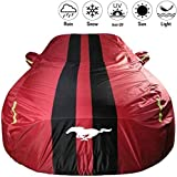 Clmaths Car-Cover Kompatibel mit Ford Mustang Wasserdicht speziellen Auto-Abdeckung Sun-Proof Four Seasons Universal-Eindickung, Rot (Color : Red, Size : -)