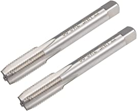 uxcell Machine Tap 7/16-20 UNF Thread Pitch 4 Straight Flutes H2 High Speed Steel 2pcs