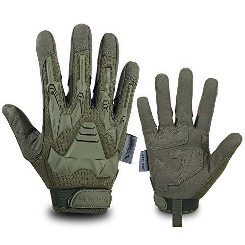 WTACTFUL Vollfingerhandschuhe für Motorrad, Reiten, Radfahren, Jagd, Wandern, Reiten, Arbeit, Klettern, Camping, Autofahren M grün