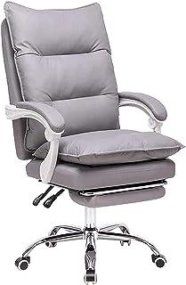 WYKDL كرسي مكتب التنفيذي، عودة كرسي الكمبيوتر كرسي قابل للتعديل مكتب كرسي قطب بات كرسي المهام الجلدي، مع مسند ذراع مبطن وب...