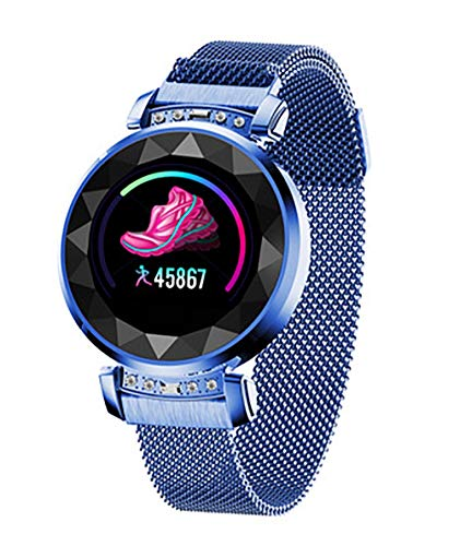 Reloj inteligente, pantalla TFT de 1,04 pulgadas, interfaz USB 2.0, de moda y hermosa, detección de salud, modo multideporte, análisis del sueño para todos (color: azul)